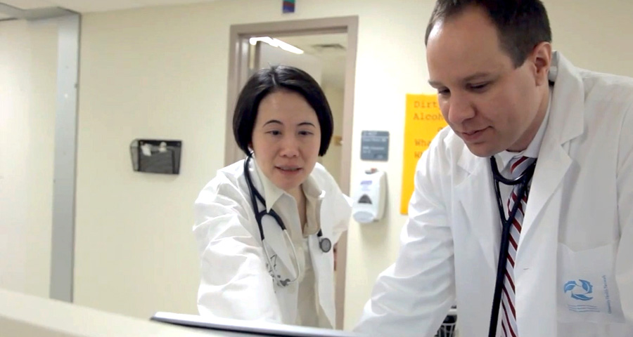 Dr. Siu and Dr. Bedard discuss some data